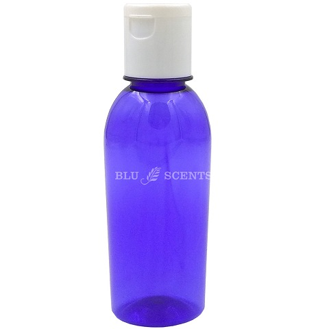170ml Cobalt Blue Plastic Bottle with Flip Top Lid