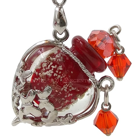 Antique Aroma Necklace, Ruby Red Love