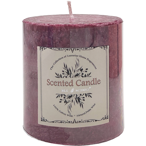 Cranberry Scented Palm Wax Candle 3 inch