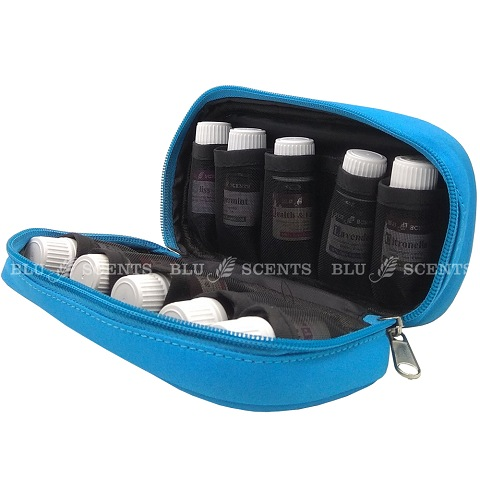 Pure Essential Oil Storage Pouch Sky Blue