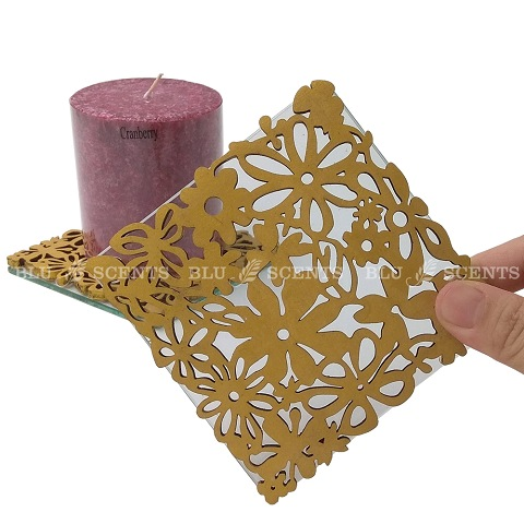 Square Golden Craft Candle Coaster