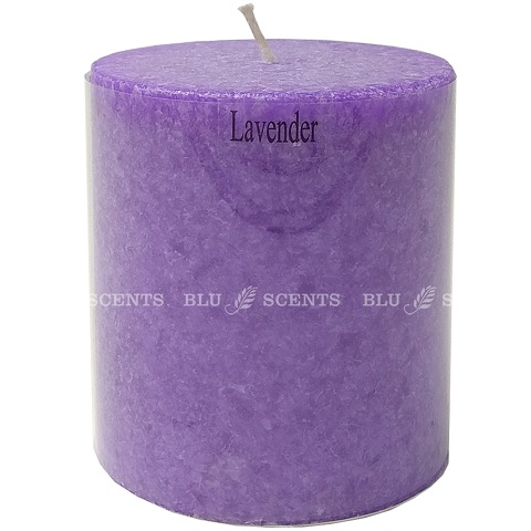 Lavender Scented Palm Wax Candle 3 inch