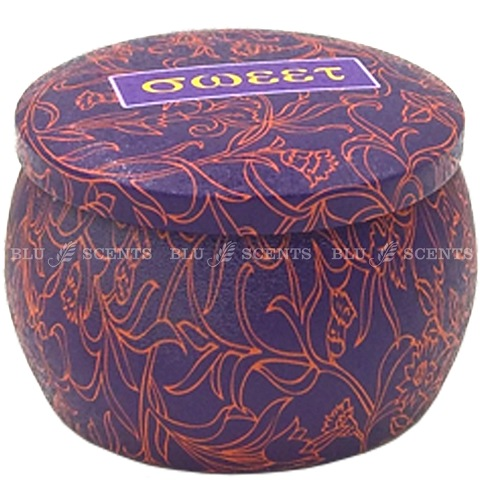 Violet Red Mandala Lavender Scented Candle Decorative Tin