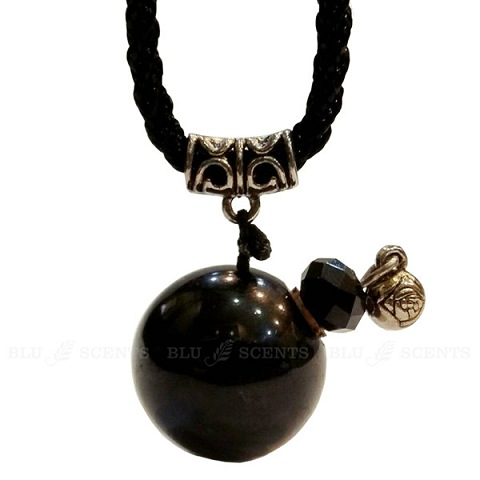 Black Obsidian gemstone aroma necklace