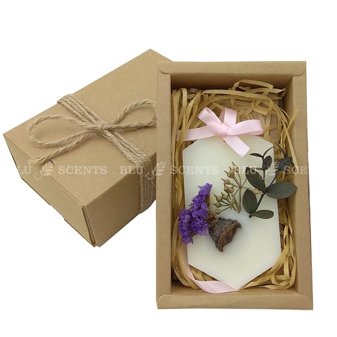 Scented Plant Wax Tablet Craft Candle Statice Lavender