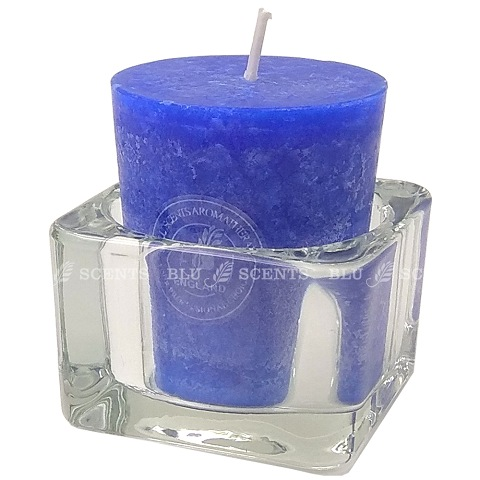 Votive Candle Sea Breeze Scented with Glass Holder Set